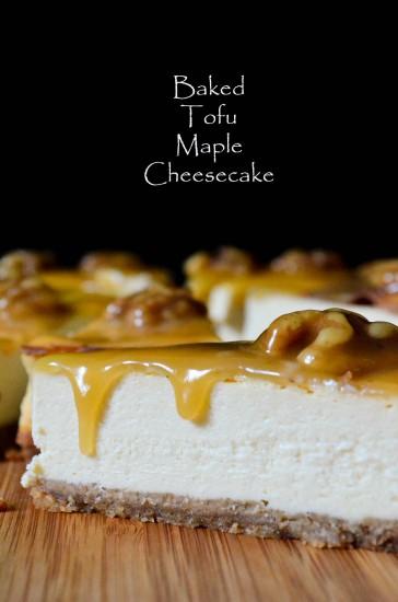 Baked Tofu Maple Cheesecake Font