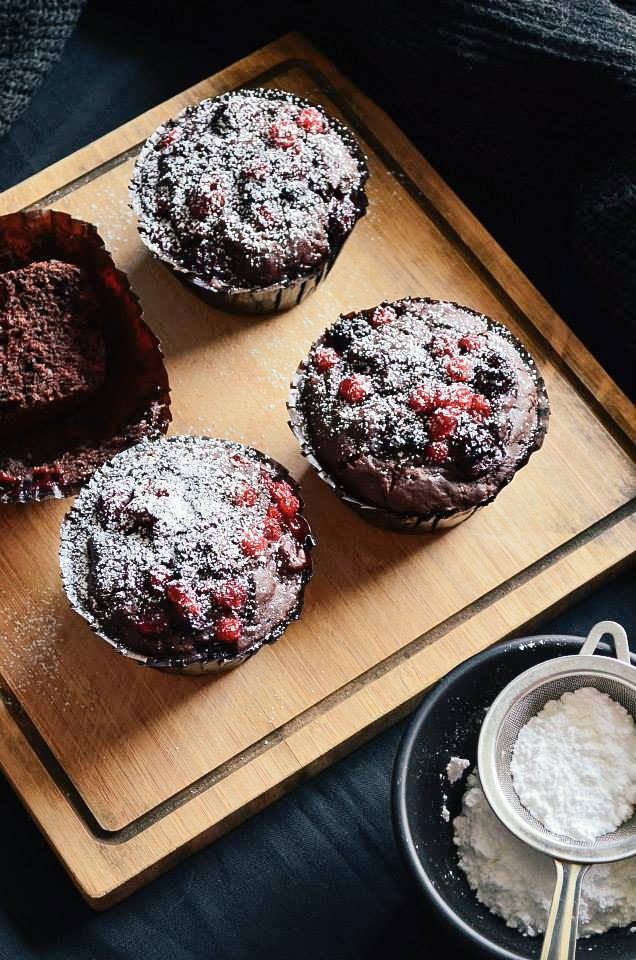 Mixed Berry and Chocolate Muffin 3