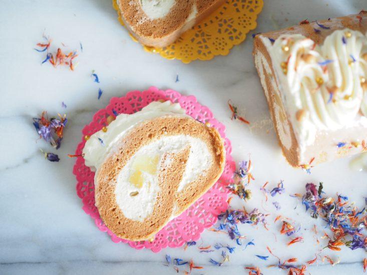 Thai Milk Tea Roll Cake